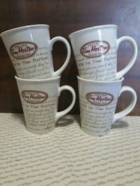 Set of 4 Limited Edition Tim Hortons mugs. Whitby, L1P 1A1