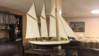 Brown wooden ship scale model Alexandria, 22304