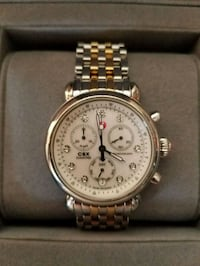 round gold-colored chronograph watch with link bra Brooklyn, 11235