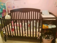 Crib with attached changing table  Greenfield, 53228