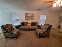 84 inch sofa with chairs