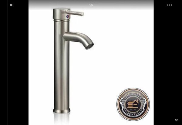 "12"" Brushed Nickel Tall Bathroom Sink Faucet. ,,,, 5cd35aa4-40ff-4033-8af3-e10c07ea7a33"