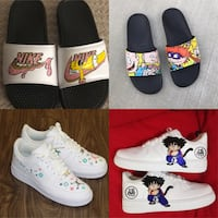 Custom Nikes Airforces, Airmaxes & Slides