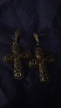cross ear ring and cross