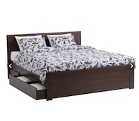 Brusali double bed  with Simmons back care mattress Toronto, M4V 1X4