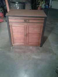 brown wooden side table with cabinet Hagerstown