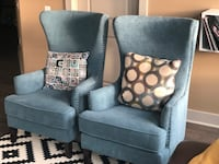 Contemporary Blue Accent Chairs  Mc Lean, 22102