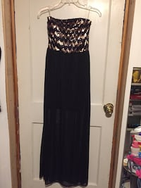 Bronze/Black Strapless Special Occasion dress size Medium Shippensburg, 17257