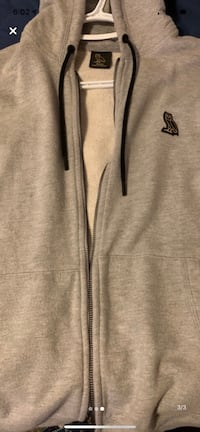 Drake ovo zip up hoodie grey