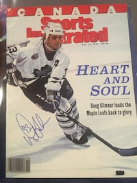 Doug Gilmour signed Canadian sports illustrated!MINT CONDITION!