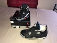 black-and-white Air Jordan 4 shoes Silver Spring, 20902