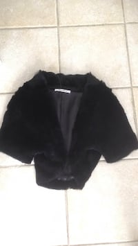 Black real fur Balero size Small  pick up in Laval Laval, H7B 1C8