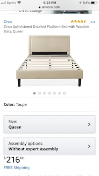 Brand new Queen platform bed  Columbus, 43222