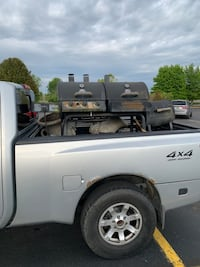 Smoker gas grill combo