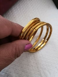 Indian  gold plated  bangles on sale size 2.6 Sterling, 20166
