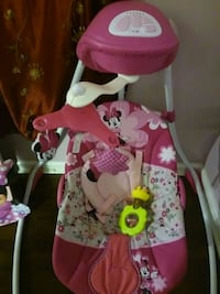 baby's pink and white floral swing chair Newport News, 23602