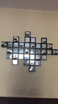 black framed square collage wall mount mirros Cupertino, 95014