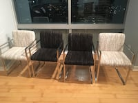 4 italian make leather dining chairs  Chicago, 60601