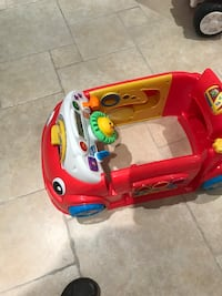 Toddler's red and yellow ride-on toy car. great for infant and toddlers. great condition