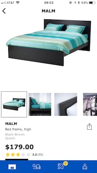 IKEA queen size bed frame Foster City, 94404