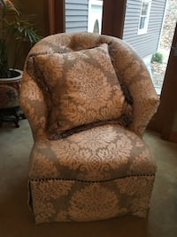 Brown and beige floral fabric sofa chair East Stroudsburg, 18302