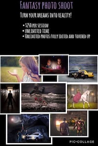 Fantasy photo shoot advertisement