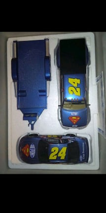 Nascar #24 Jeff Gordon truck with car and trailer