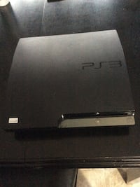 Black Sony PS3 slim console 120 GB