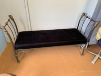 "Antique velvet bench chair 53""x17"" sitting bench Lover Antiques"