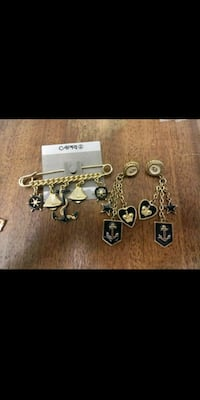 (New) Pin and earrings set  Toledo, 43611