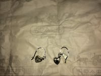 Coach Silver Heart Earrings  Toronto