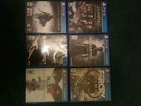 six assorted PS4 games Provo, 84601