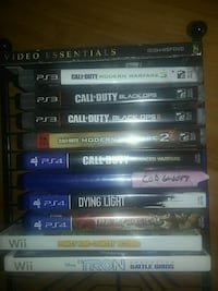 PS3 PS4 and Wii games most 20 each Brantford, N3R 3V2
