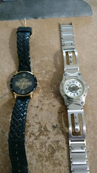 two round silver chronograph watches with black le Glen Burnie, 21060