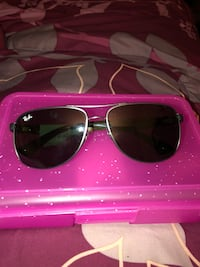 Silver framed aviator sunglasses with case Reisterstown, 21136