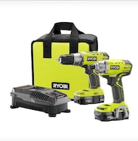 Ryobi Drill and Impact Tool with two batteries Brampton, L6Y