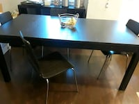 Black dinning table with 4 chairs Washington