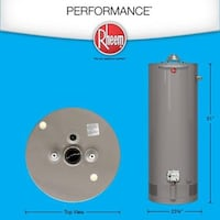 Water Heater 208- Rheem Performance 50 gal. Natural Gas Roswell, 30076