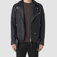 Allsaints Leather Biker Jacket - Men Small/ Medium Toronto, M2M