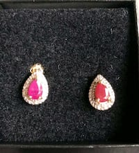 10k Yellowgold with Genuine Diamonds and Ruby Vancouver, 98683