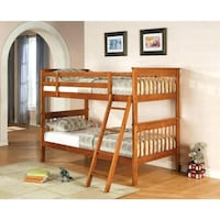 Beautiful Brown Twin Over Twin Bunk Bed  Salem, 97317