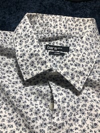 Mens dress shirt Large White and black floral print textile Alexandria, 22315