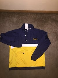 Navy and yellow windbreaker Des Moines, 50314
