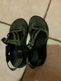pair of black-and-green hiking sandals Slidell, 70461