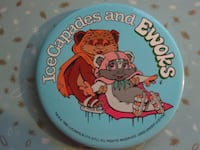 Rare Vintage 1985 Star Wars' Ice Capades and Ewoks Large Button Badge