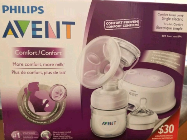 Philips Avent Single breast pump + 5 containers