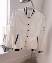 white and black button-up jacket New York, 10023