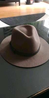 Brixton Wesley Fedora Hat, size XS, brown, 100% wool Calgary, T2T 2G6