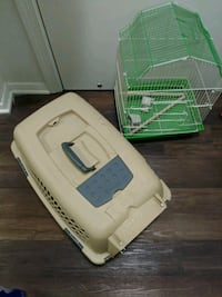Bird cage and cat or dog taxi with bed