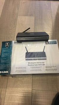 Black d-link wireless n 300 router with box